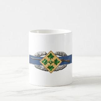 11B 4th Infantry Division Basic White Mug