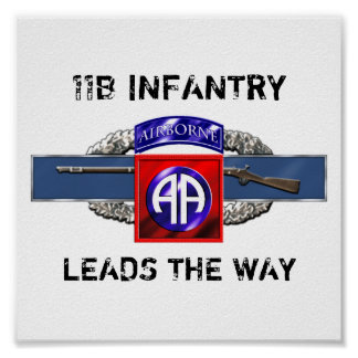 11B 82nd Airborne Division Poster