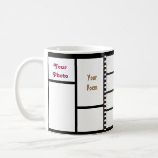 11oz Custom Grid 4 Your Photos & Messages Zazz_it Coffee Mug