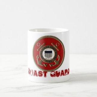 11oz mug colourfully displaying coast guard symbol