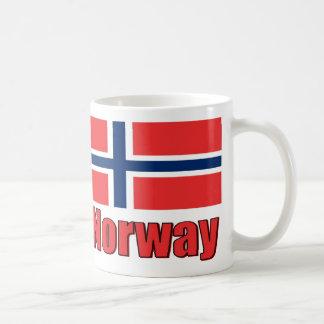 11oz White Porcelan Mug Flag/Norway