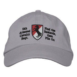 11th A.C.R. Blackhorse Patch Hat Embroidered Baseball Caps