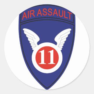 11th Air Assault Div Classic Round Sticker