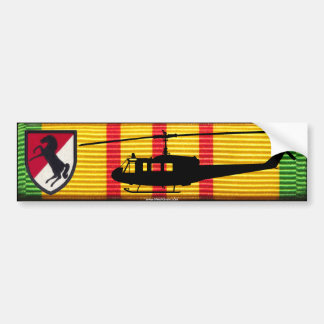 11th Armoured Cavalry UH-1 Huey VSM Bumper Sticker