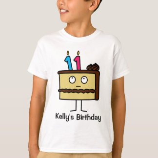 11th Birthday Cake with Candles T-Shirt
