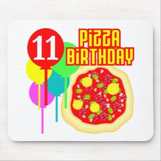 11th Birthday Pizza Birthday Mouse Pad