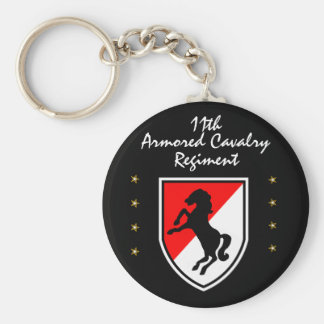 11th BLACKHORSE ARMORED CAVALRY REGIMENT Basic Round Button Key Ring