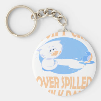 11th February - Don't Cry Over Spilled Milk Day Basic Round Button Key Ring