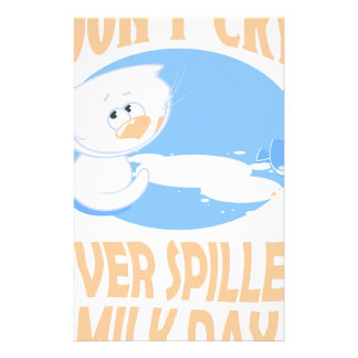 11th February - Don't Cry Over Spilled Milk Day Stationery