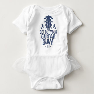 11th February - Get Out Your Guitar Day Baby Bodysuit
