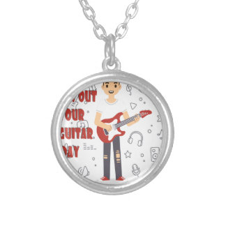 11th February - Get Out Your Guitar Day Silver Plated Necklace