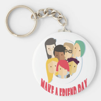 11th February - Make a Friend Day Basic Round Button Key Ring