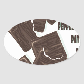11th February - Peppermint Patty Day Oval Sticker