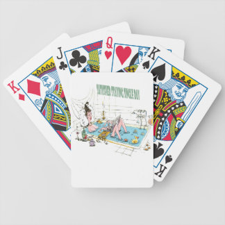 11th February - Satisfied Staying Single Day Bicycle Playing Cards