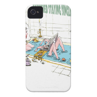 11th February - Satisfied Staying Single Day Case-Mate iPhone 4 Cases