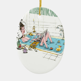 11th February - Satisfied Staying Single Day Ceramic Oval Decoration