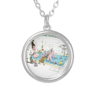 11th February - Satisfied Staying Single Day Silver Plated Necklace