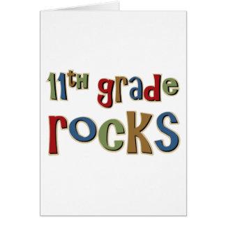 11th Grade Rocks Eleventh Greeting Card