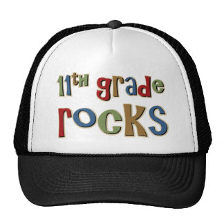 11th Grade Rocks Eleventh Trucker Hats