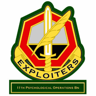 11th Psychological Operations Battalion DUI Standing Photo Sculpture
