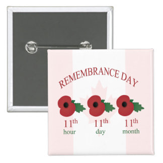 11th Remembrance Day Button