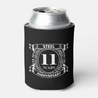 11TH wedding anniversary steel Can Cooler