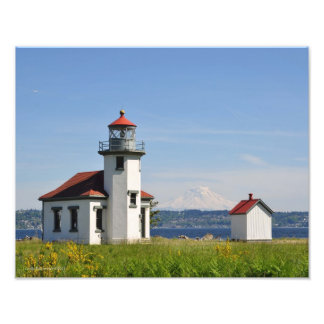 11X14 Point Robinson Lighthouse on Vashon Island Photo Print