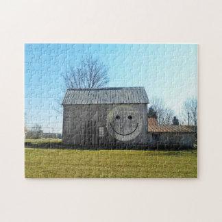 11x14 Puzzle Vintage Americana Smiley Face Barn