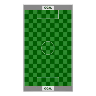 11x17 Soccer Goal Chess TAG Grid (Fridge Magnets) Print