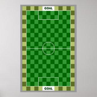 11x17 Soccer Goal TAG Grid (Fridge Magnets) Poster