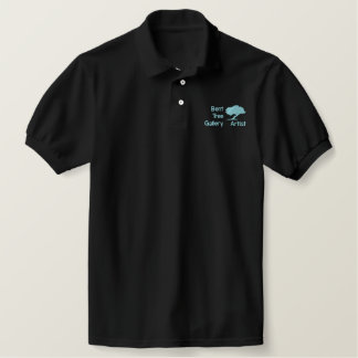 120342417594065253, BentTreeGallery, Artist Embroidered Polo Shirt