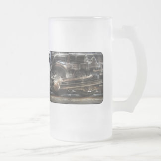 1218 - NW Type-A Steam 2-6-6-4 - Wheels Frosted Glass Beer Mug