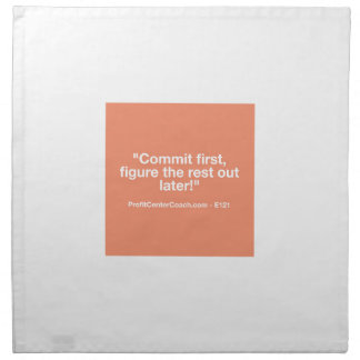 121 Small Business Owner Gift - Commt Now Napkin