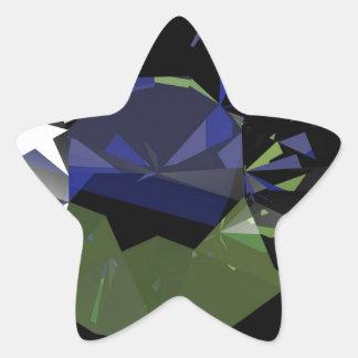1225 BLACK DIGITAL REALISM DIAMOND MODERN JEWELS A STAR STICKER