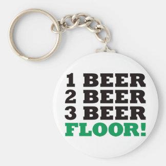 123 Beer Floor - Green Key Ring
