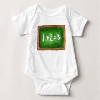 123 Math School Teacher Chalkboard Blackboard Baby Bodysuit
