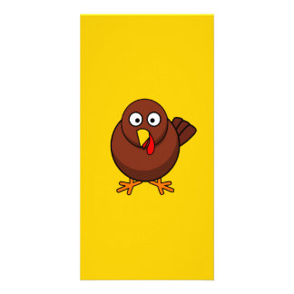 12456965191856571265bloodsong_Turkey-RoundCartoon Photo Card