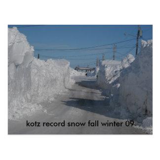 126, kotz record snow fall winter 09 postcards