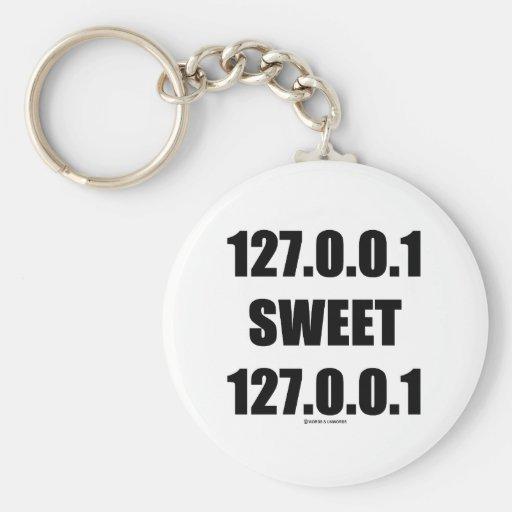127.0.0.1 Sweet 127.0.0.1 (Home Sweet Home Geek) Keychain