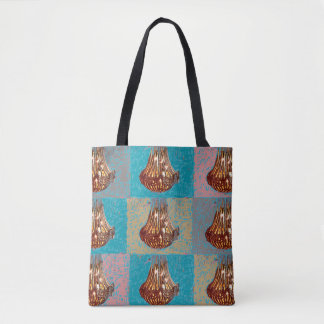 129 - Designer tote bag with chandeliers
