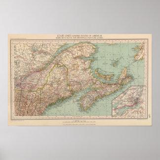 129 Maine, Nova Scotia, New Brunswick, Quebec Poster