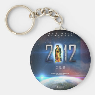 12.12.12 Celebrating Our Lady of Guadalupe Basic Round Button Key Ring