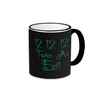 12 12 12 Twice As Evil T-Shirts, Buttons & Mugs!
