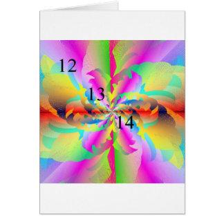 12 13 14 Rainbow Fire Flower Greeting Card