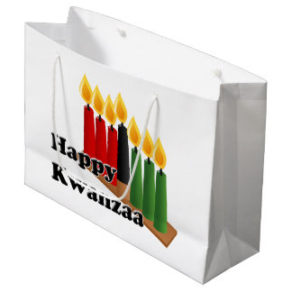 12-26 Happy Kwanzaa Large Gift Bag