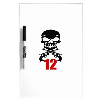 12 Birthday Designs Dry Erase Board