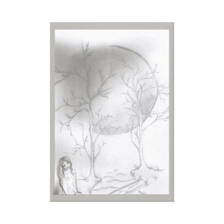 12 by 12 1.5 canvas lady under the moon canvas print