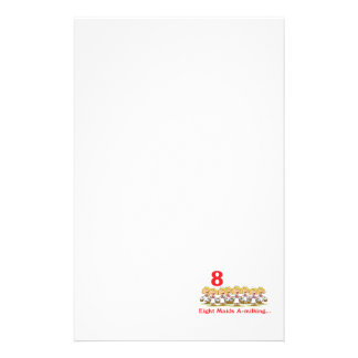 12 days eight maids a-milking personalised stationery
