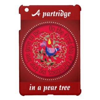 12 Days of Christmas A partridge in a pear tree iPad Mini Case