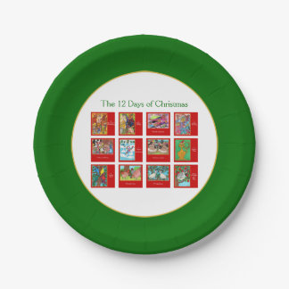 12 Days of Christmas Cute Animal Menagerie Paper Plate